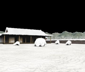 白玉楼的雪庭(绯想天场景)