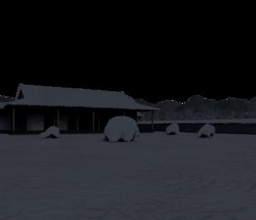 白玉楼的雪庭(非想天则场景)